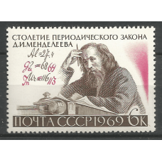Postage stamp USSR The 100th anniversary of the Periodic Law of D.I. Mendeleev