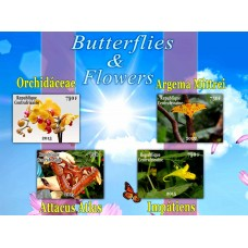 Fauna Butterflies and Flowers