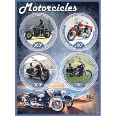 Postage stamps transport Motorcycles.