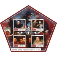 Postage stamps art Peter Paul Rubens.