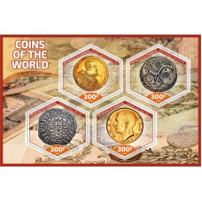 Coins on stamps Coins of the World