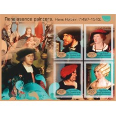 Postage stamps painting Renaissance artists.