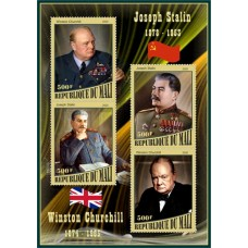 Great People Winston Churchill and Joseph Stalin