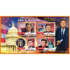Stamps 100th Anniversary of the Birth of John F. Kennedy.