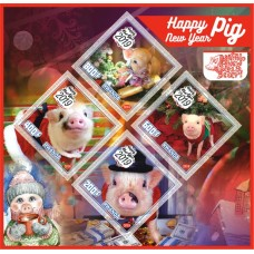 Zodiac signs Happy New Year Pigs