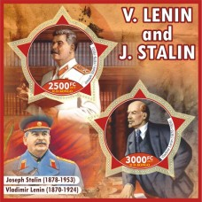 Postage stamps Lenin and Stalin.